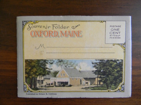 Souvenir Folder, Oxford Maine