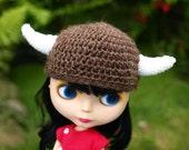 Brown Viking Helmet for Blythe