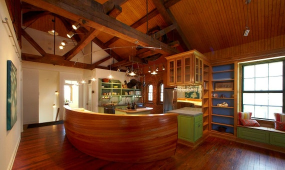 Custom Kitchen and Library