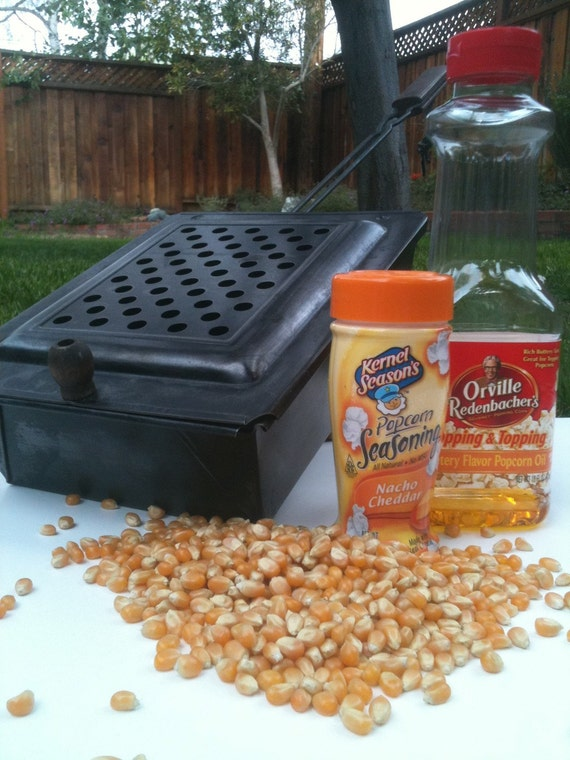 how to make popcorn on a campfire