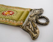 Vintage Corona Decor Co. Tapestry and Brass Wall Hanging