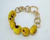 yellow, summer, lemons, lemons necklace