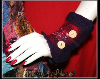 Pixie felted gloves / arm warmers (made on order)