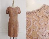 60s Dress / 1960s Dress / 1960s Cocktail Dress / Large