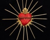 Art Wall Art Sacred Heart Sculpture Unique Found Object Assemblage One of a Kind  22