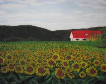 Sunflower Painting Etsy
