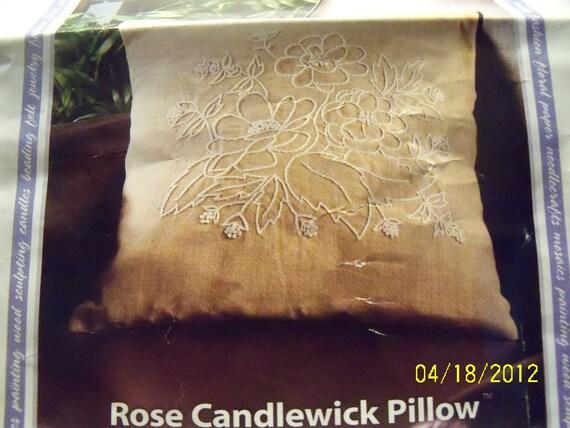 Rose Candlewick Pillowcase Kit