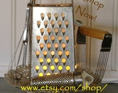 Kitchen Nightlight Cheese Grater Lamp  Repurposed Gadgets Vintage Upcycled