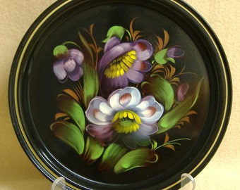 Tole Painted Tin Plate German