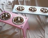 Raised Dog Feeding Station -  3 Bowl