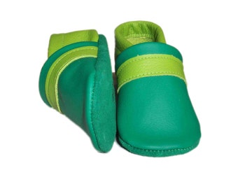 "milchdealer  leather baby shoes ""frogs"""