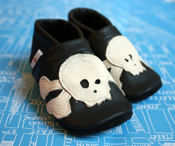 """milchdealer  leather baby shoes """"Pirat"""""""