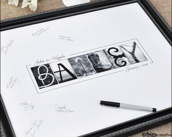 Personalized Wedding GUEST BOOK  Print for Larger Weddings  (Unframed)