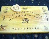 Woodburned Egyptian spirit board