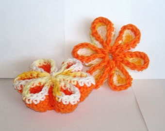 Handmade Citrus Splash Bath Pouf/ sponge/ Round Scrubbies set of 2 - pdf pattern