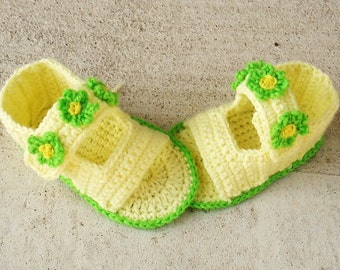 Sandals Crochet Baby Booties Slippers Pattern ( pdf -pattern)-handmade 6-12 mo  and 1-2-2.5-3 years