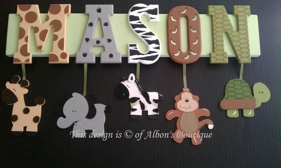 5 Letter Name Custom Jungle Zoo Safari Themed By
