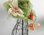 SUmMer cHiC Vintage Hat Kentucky Derby Easter