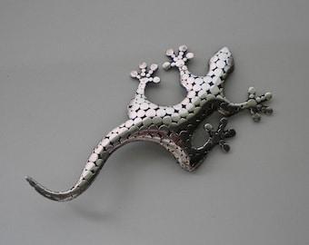 Vintage 80's Sterling Lizard Brooch Indonesian Artistry Hardy Style