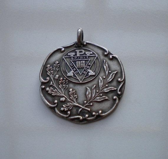 1905 Body Mind and Spirit YMCA Medal Gold Filled CIJ Sale
