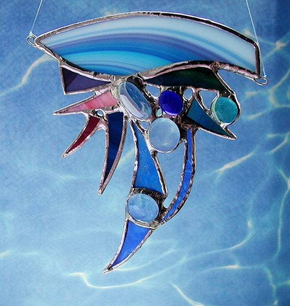 Ocean, abstract stained glass