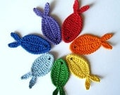 Rainbow Fish Appliques, Set of 7