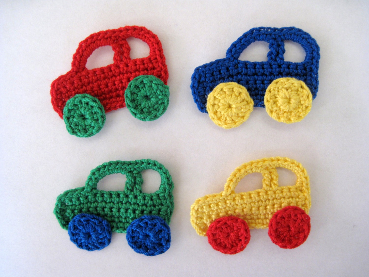 handmade crochet car appliques. Black Bedroom Furniture Sets. Home Design Ideas