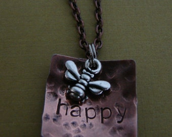 Bee Happy Necklace