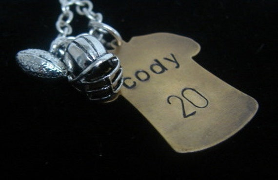 Football Jersey Charm Necklace...Go Team