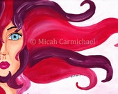 Change 9x12 acrylic painting of fantasy woman