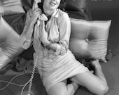 60's phone pinup, sil...