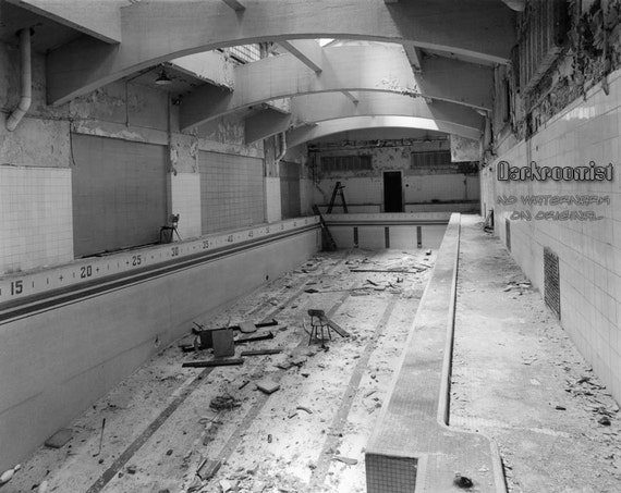 Old Cass Tech Swimming Pool 8x10 Silver Gelatin Print