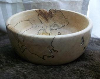 Medium sized maple wooden bowl