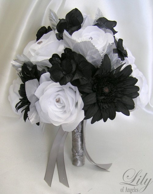 artificial wedding bouquet packages 17 pieces package silk flower wedding bridal bouquet 1382