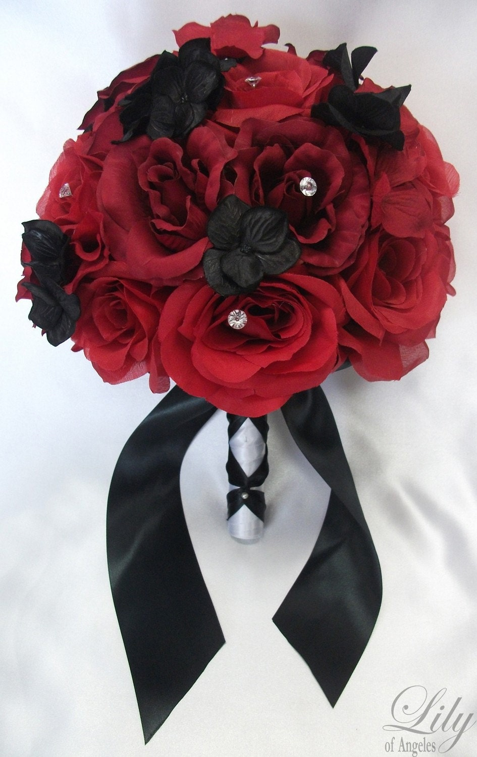Wedding Bouquets Red And Black : Black and red wedding flowers viewing gallery