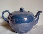 Vintage Teapot Blue Lustreware