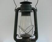 Vintage Paulls Leader No. 2 Fount Green Oil Lantern