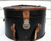 Vintage Hat Box Leather 1920s