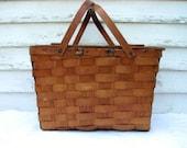 Vintage Picnic Basket Wov n Wood Trademark Jerywil