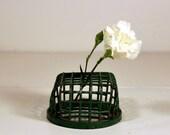 Reserve for Lisa: Vintage Dazey Flower Frog Holder Green