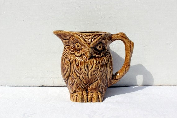 Vintage Owl Creamer Ceramic made in Canada