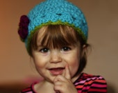 Toddler Girls Retro Beanie
