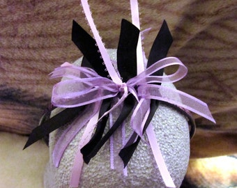 Purple and Black Ribbon Hairband