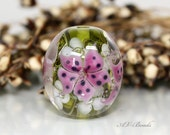 AV-Beads handmade Lampwork Flowers SRA  OOAK
