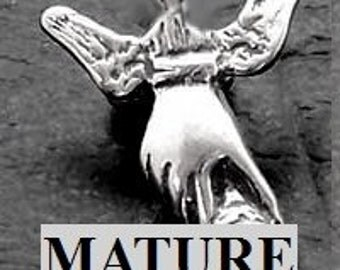 Mature Winged Hand Job Penis Sterling Silver  Also Free Dometic Shipping