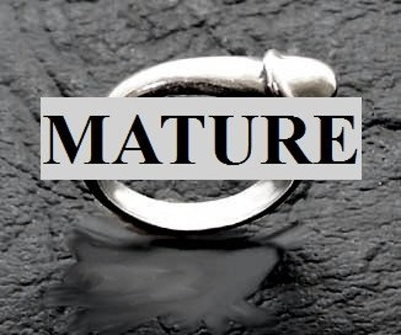 Mature  Penis Ring  Solid Sterling Silver Free Domestic Shipping
