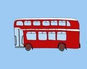 doubledecker bus- 8X10 illustration