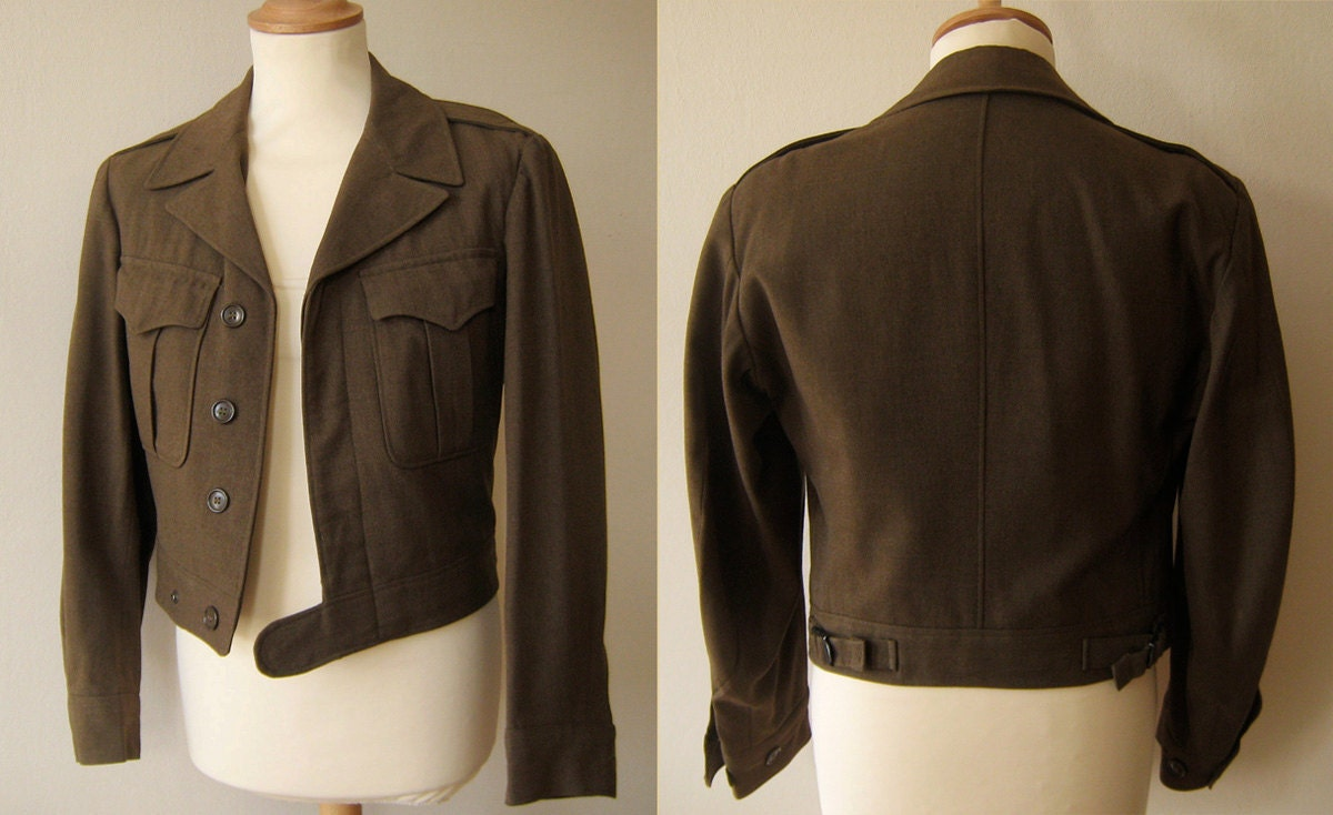 Sale 1940s Wwii Men S Military Jacket Size S By