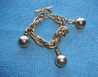 Vintage charm bracelet by Les Parfums Weil, made in France