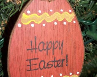 HAPPY EASTER Egg Ornament